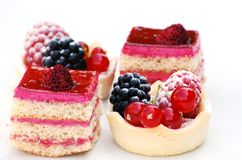 Fancy cakes. A shot of some delicious summer desserts Stock Image