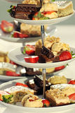 Fancy cakes on a cake stand Royalty Free Stock Photography