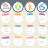 Fancy calendar with color tapes for 2016 Stock Photography