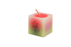Fancy candle on white background Royalty Free Stock Photos
