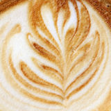 Fancy cappuccino design Royalty Free Stock Images