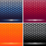 Fancy Card with geometric background vector set Stock Photos