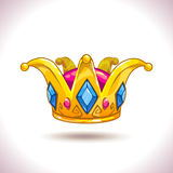 Fancy cartoon vector golden crown Royalty Free Stock Photography