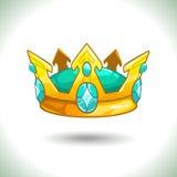 Fancy cartoon vector golden crown Royalty Free Stock Images