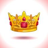 Fancy cartoon vector golden crown Stock Images