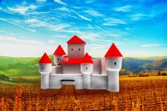 Fancy castle in the country Stock Photo