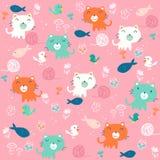 Fancy Cat pattern royalty free illustration
