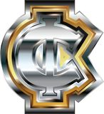 Fancy cent symbol. Vector illustration Royalty Free Stock Photos