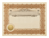 Fancy Certificate stock images