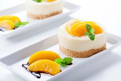 Fancy Cheesecake Dessert Royalty Free Stock Image
