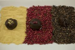 Fancy chocolate truffles Royalty Free Stock Photo