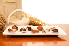 Fancy Chocolates Royalty Free Stock Photos