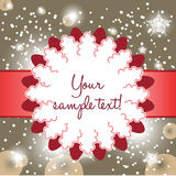 Fancy christmas card Stock Photo