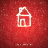 Fancy Christmas card Stock Image