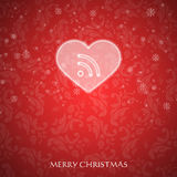 Fancy Christmas card Stock Images