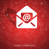 Fancy Christmas card royalty free stock photography