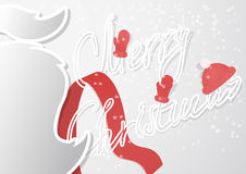A fancy Christmas card with mustache and handmade outline font in a modern flat design Royalty Free Stock Photos