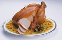 Fancy christmas chicken Royalty Free Stock Photo