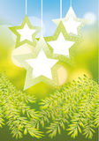 Fancy Christmas stars Royalty Free Stock Image