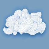 Fancy cloud made lines, vector  object Royalty Free Stock Photos