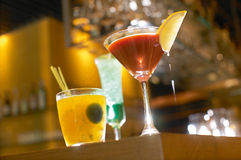 Fancy Cocktails Stock Image