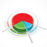 Fancy colored pie chart Royalty Free Stock Photo