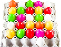 Fancy or colorful of egg in spawn box with white background. sof Stock Photo