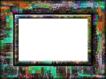 Fancy colorful frame Stock Photography