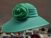Fancy hat for derby day. Fancy, colorful hat for a formal occasion such as church, Kentucky Derby, a wedding or meeting the queen stock photography