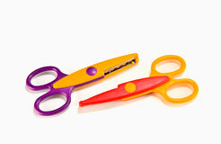 Fancy colourful scissors Royalty Free Stock Image