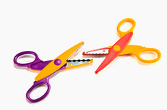 Fancy colourful scissors Stock Image