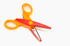 Fancy colourful scissors Royalty Free Stock Images