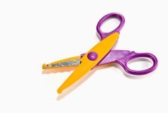 Fancy colourful scissors Royalty Free Stock Photo