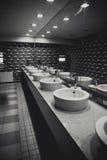 Fancy commercial bathroom Stock Image