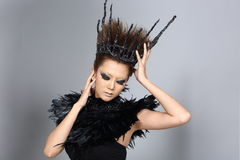 Fancy Creative Talent Make up and Hair style on Asian Beautiful stock photo