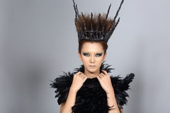 Fancy Creative Talent Make up and Hair style on Asian Beautiful royalty free stock photos