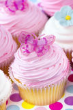 Fancy Cupcakes. In pastel tones.  Delicious sweet treats Royalty Free Stock Image