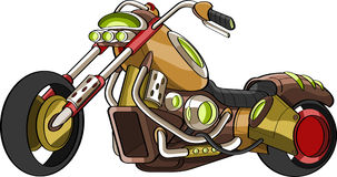 Fancy customised chopper bike Stock Photos