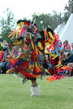 Fancy Dance - Powwow 2013. A young Native American dancer performs a fancy dance in the Indian Village at Cheyenne Frontier Days 2013 Royalty Free Stock Image
