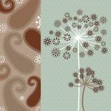 Fancy Dandeloins - geometric pattern  Royalty Free Stock Image