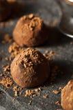 Fancy Dark Chocolate Truffles Stock Photos