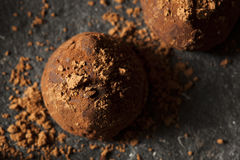 Fancy Dark Chocolate Truffles Royalty Free Stock Photography