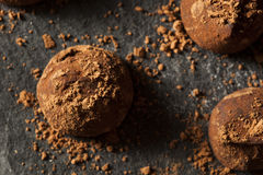 Fancy Dark Chocolate Truffles Stock Photo