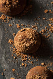 Fancy Dark Chocolate Truffles Stock Photography