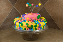 Fancy Decorated Birthday Cake Royalty Free Stock Image