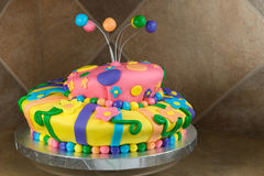 Fancy Decorated Birthday Cake Royalty Free Stock Photo