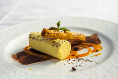 Fancy dessert. In a restaurant Royalty Free Stock Images