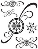 Fancy Detailed Decorations 80 stock illustration