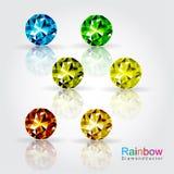 Fancy diamond vector. Colorful fancy diamond set vector vector illustration