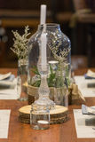 Fancy dining table Royalty Free Stock Photography